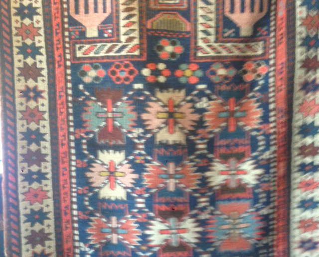 Caucasian prayer rug 1 crop
