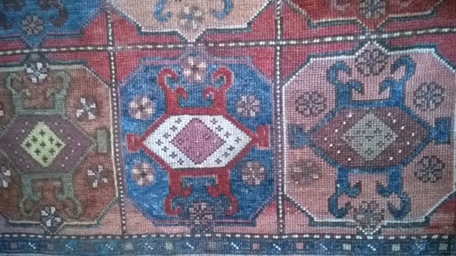 Detail of antique Turkish rug