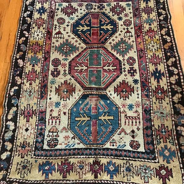 "Antique Caucasus , 3x4'8"", c. 1900"