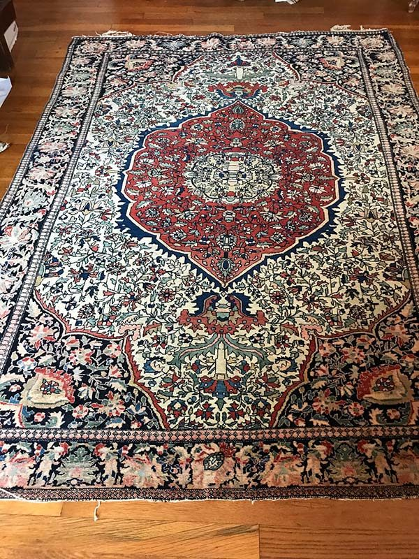 Antique Fereghan Sarouk, 4'x6'6""