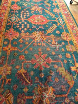 Antique Oushak, 6'x10, c.1900, good condition , $2800