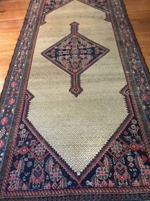 Camel hair, 5'x10'6, good condition , no exposed foundation , $1200