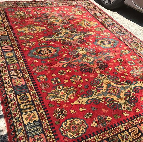 Antique Austrian Hook Rug